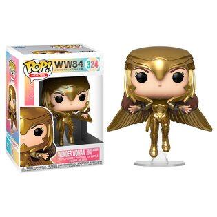 Фигурка Funko POP Чудо Женщина в золотой броне летит: 1984 (Wonder Woman golden armor flying: 1984 324) Original