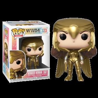 Фигурка Funko POP Чудо Женщина в золотой броне в шлеме: 1984 (Wonder Woman golden armor: 1984 323) Original