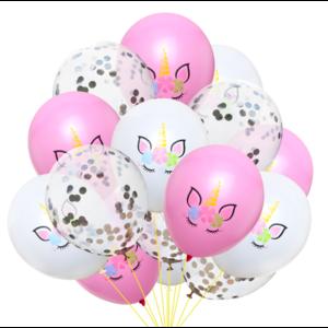 Набор Воздушных шаров Единорожки (15 шт.)