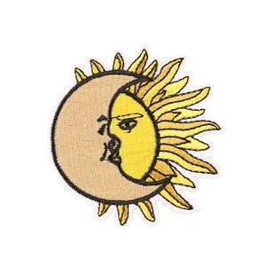 Нашивка Месяц и Солнце 7 см.