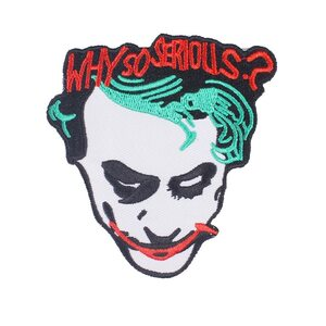 Нашивка Why So Serious Джокер 8,5 см.
