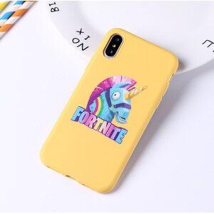 Чехол Лама Фортнайт желтый iPhone X/XS