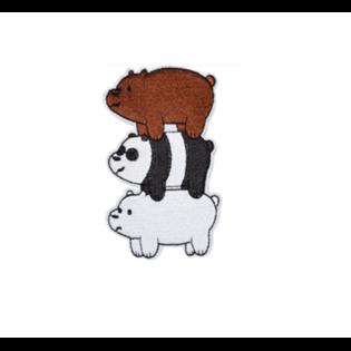 Нашивка Мы обычные медведи друг на друге 9 см.