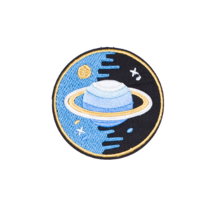 Нашивка Планета Сатурн 6 см.