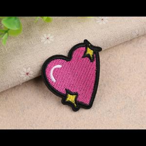 Нашивка Сердечко розовое 5 см.