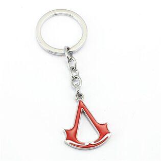Брелок Ассасин красный металлический (Assassins Creed)