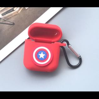 Чехол на AirPods Щит Капитана Америки квадратный