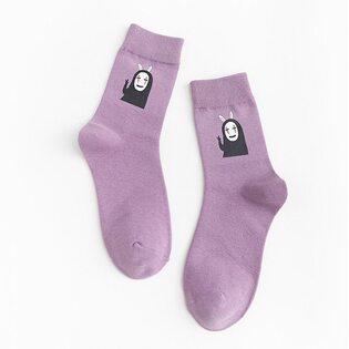 Носки Безликий фиолетовые высокие