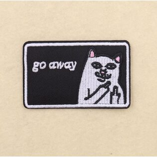 Нашивка go away RIPNDIP 8 см.
