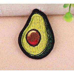 Нашивка Спелый Авокадо 6 см.