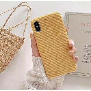 Чехол Вельветовый желтый iPhone 11