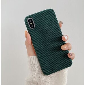 Чехол Вельветовый зеленый iPhone X/XS