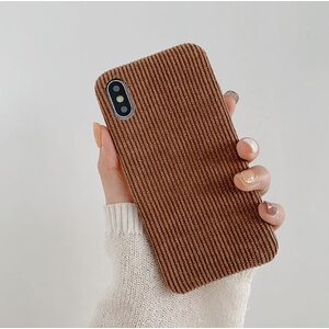 Чехол Вельветовый коричневые iPhone X/XS