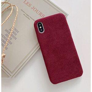 Чехол Вельветовый вишневый iPhone X/XS