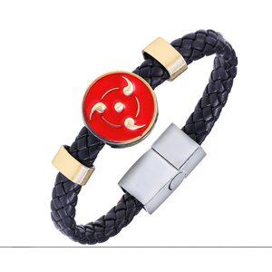 Браслет кожаный Шаринган: Наруто (Naruto)