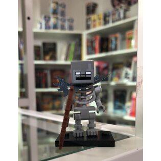 Фигурка Lepin Скелет с луком серый: Майнкрафт (Skeleton: Minecraft)