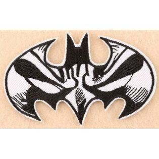 Нашивка Бэтмен черно-белая 10 см.