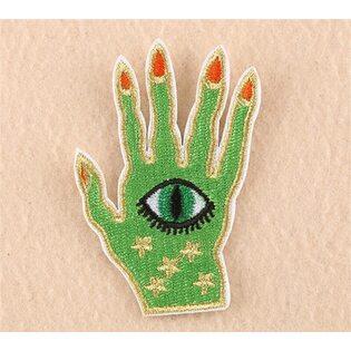 Нашивка Рука с глазом 7 см.