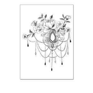 Переводная татуировка Цветы в ассортименте