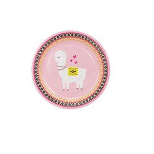 Набор Бумажных тарелок Альпаки розовый (8 шт.) большие