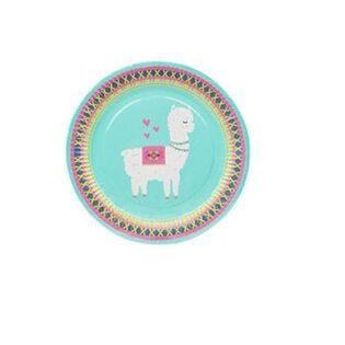 Набор Бумажных тарелок Альпаки голубой (8 шт.) большие