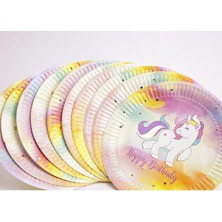 Набор Бумажных тарелок Единорог (10 шт.) маленькие