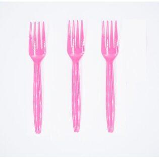 Вилки пластиковые Розовые (16 шт.)