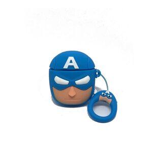 Чехол на AirPods Капитан Америка (Captain America)