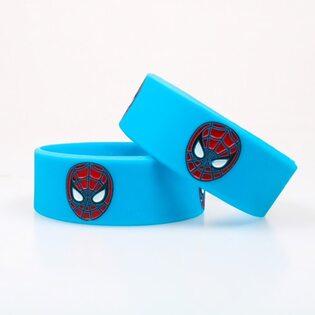 Браслет широкий Человек Паук синий