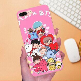 Чехол BTS розовый iPhone 7/8