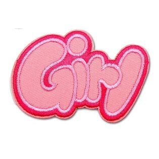 Нашивка Girl розовая 6 см.