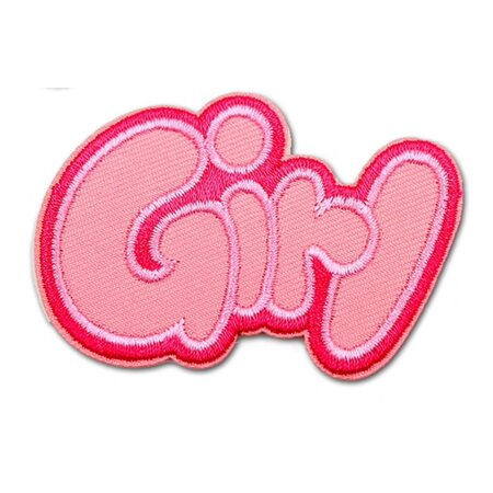 купить Нашивка Girl розовая 6 см., в Ростове с доставкой