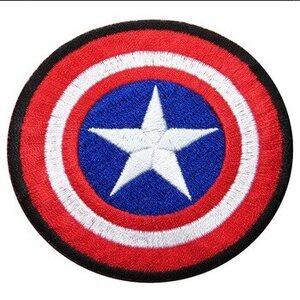 Нашивка Щит Капитана Америки 6 см.