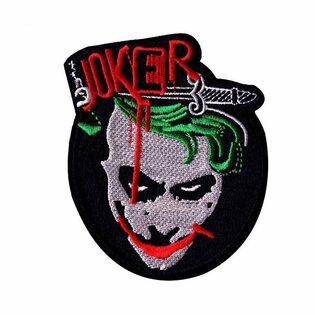 Нашивка Джокер черня 9,5 см.