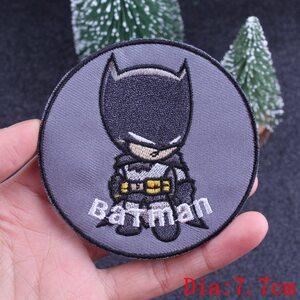 Нашивка Бэтмен круглая 7,5 см.