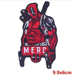 Нашивка Дэдпул MERC 10 см.