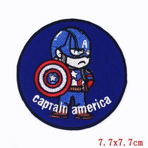 Нашивка Капитан Америка 7,5 см.