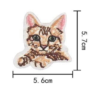Нашивка Котик рыжий (2) 7 см.