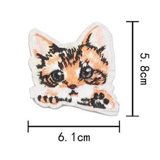 Нашивка Котик рыжий (1) 7 см.