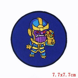 Нашивка Танос круглая 7,5 см.
