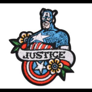 Нашивка Justice Капитан Америка 10 см.