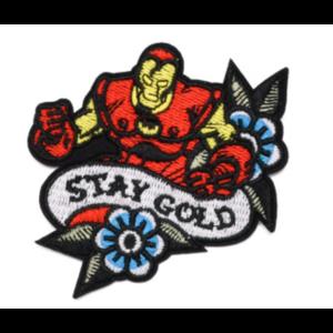 Нашивка Stay Gold Железный человек 7 см.