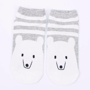 Носки Белый медведь в полоску низкие