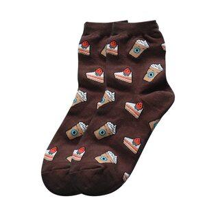 Носки Кофе коричневые высокие