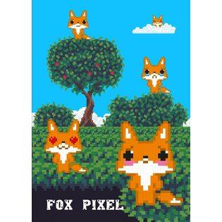 Fox pixel. Тетрадь школьная в мягкой обложке