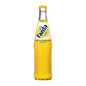Газированный напиток Fanta в стекле со вкусом Ананаса 355 мл.