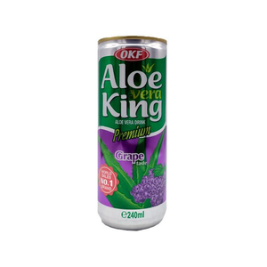 Газированный напиток Aloe Vera King Виноград 240 мл.
