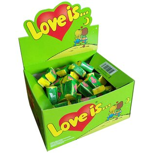 Жевательная резинка Love is.. со вкусом яблока и лимона
