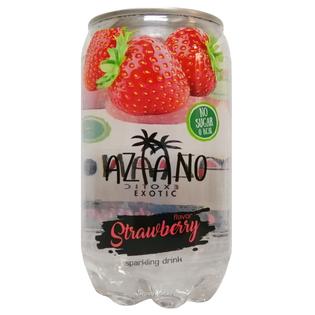 Газированный напиток Aziano со вкусом клубники 350 мл.