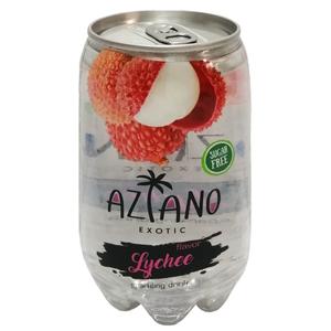 Газированный напиток Aziano со вкусом личи 350 мл.